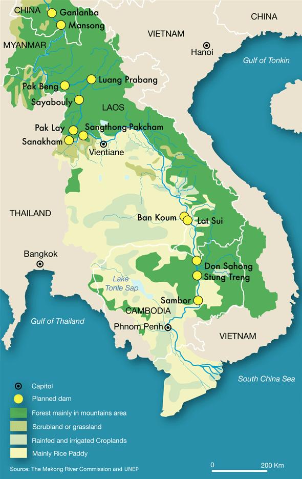 Map damming the mekong river circle of blue gumiabroncs Choice Image