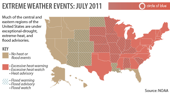 Weather Extremes Floods Droughts Tornadoes And Extreme Heat - Us map weather heat
