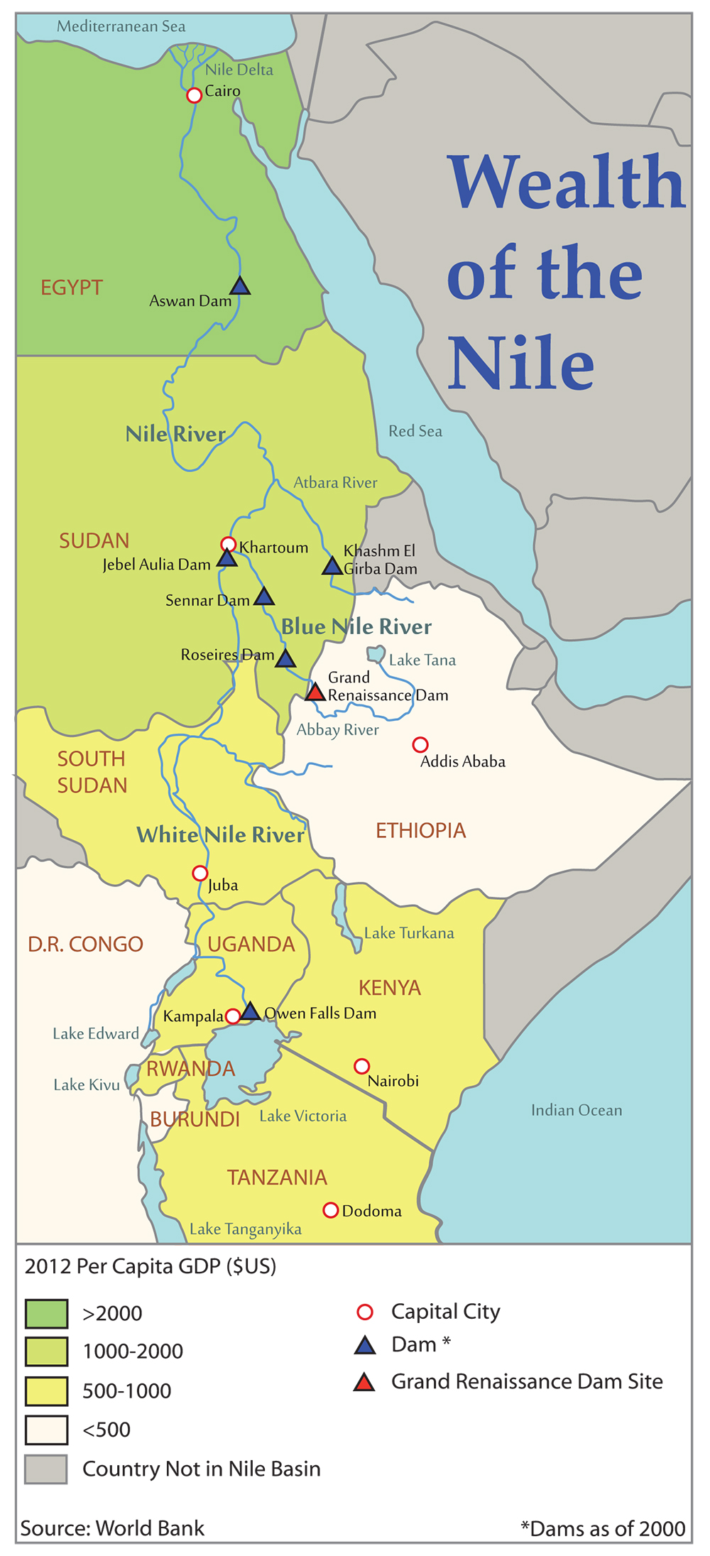 Super Dam Egyptian Concern For Nile Water Security Spurs - Where is ethiopia