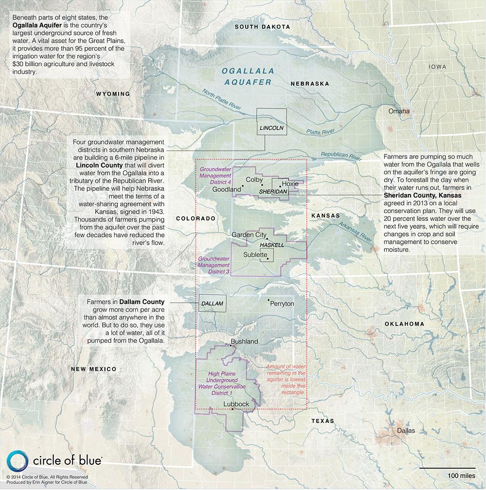 Map The Ogallala Aquifer A Freshwater Bonanza in Decline