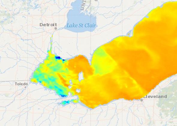 Lake Erie Water Tempature 83