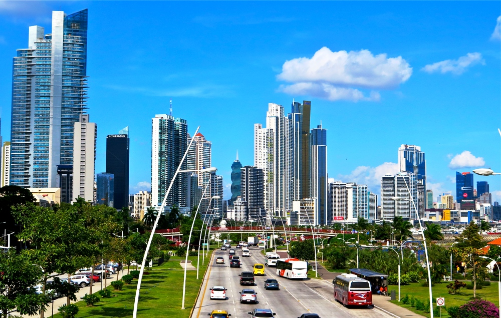 Panama City downtown skyline economy development