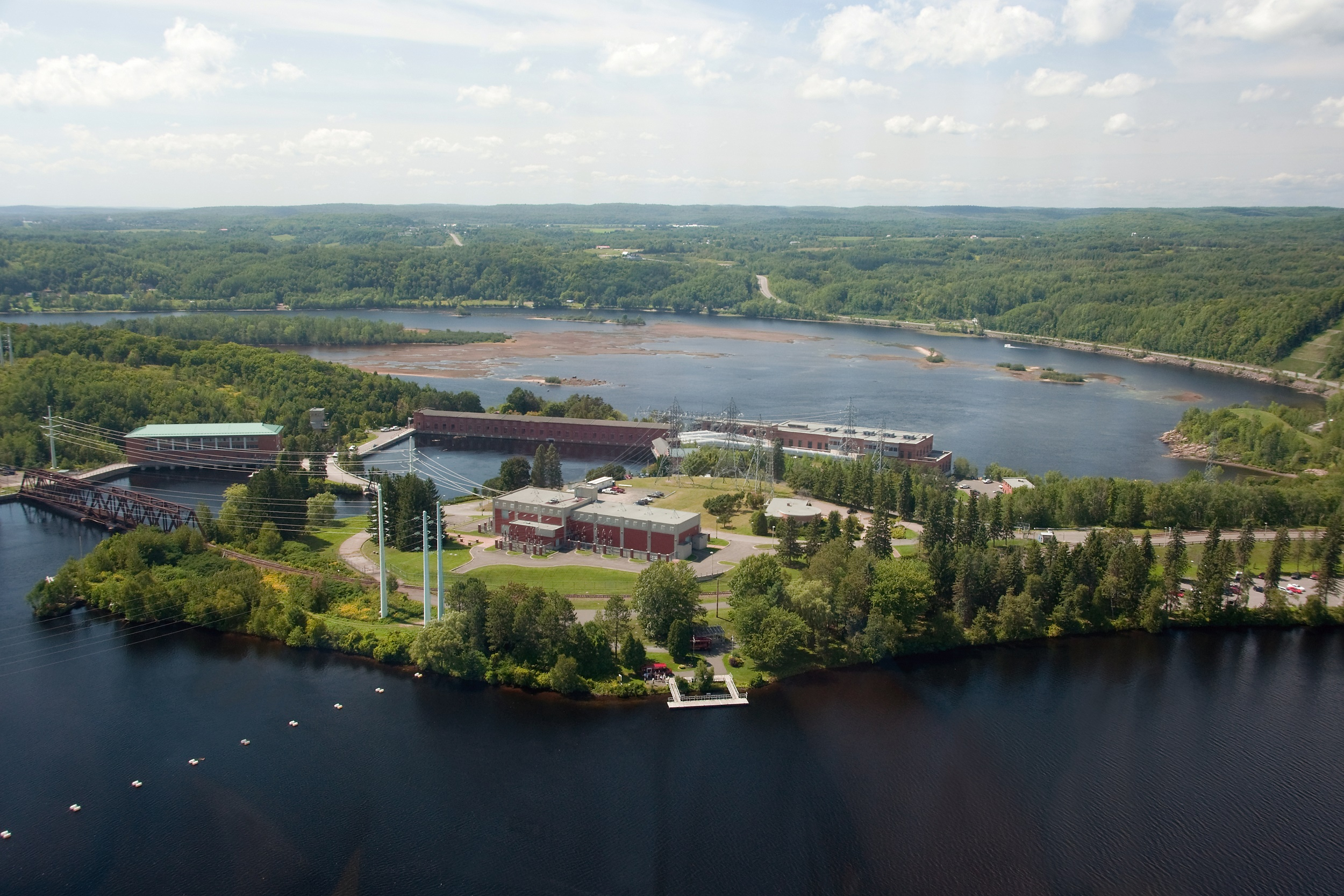 Shawinigan hydropower complex, in Quebec, has generated electricity for more than 100 years. The North American Clean Energy Plan, announced on June 29, 2016, could boost Canadian hydropower production. Photo © Shutterstock