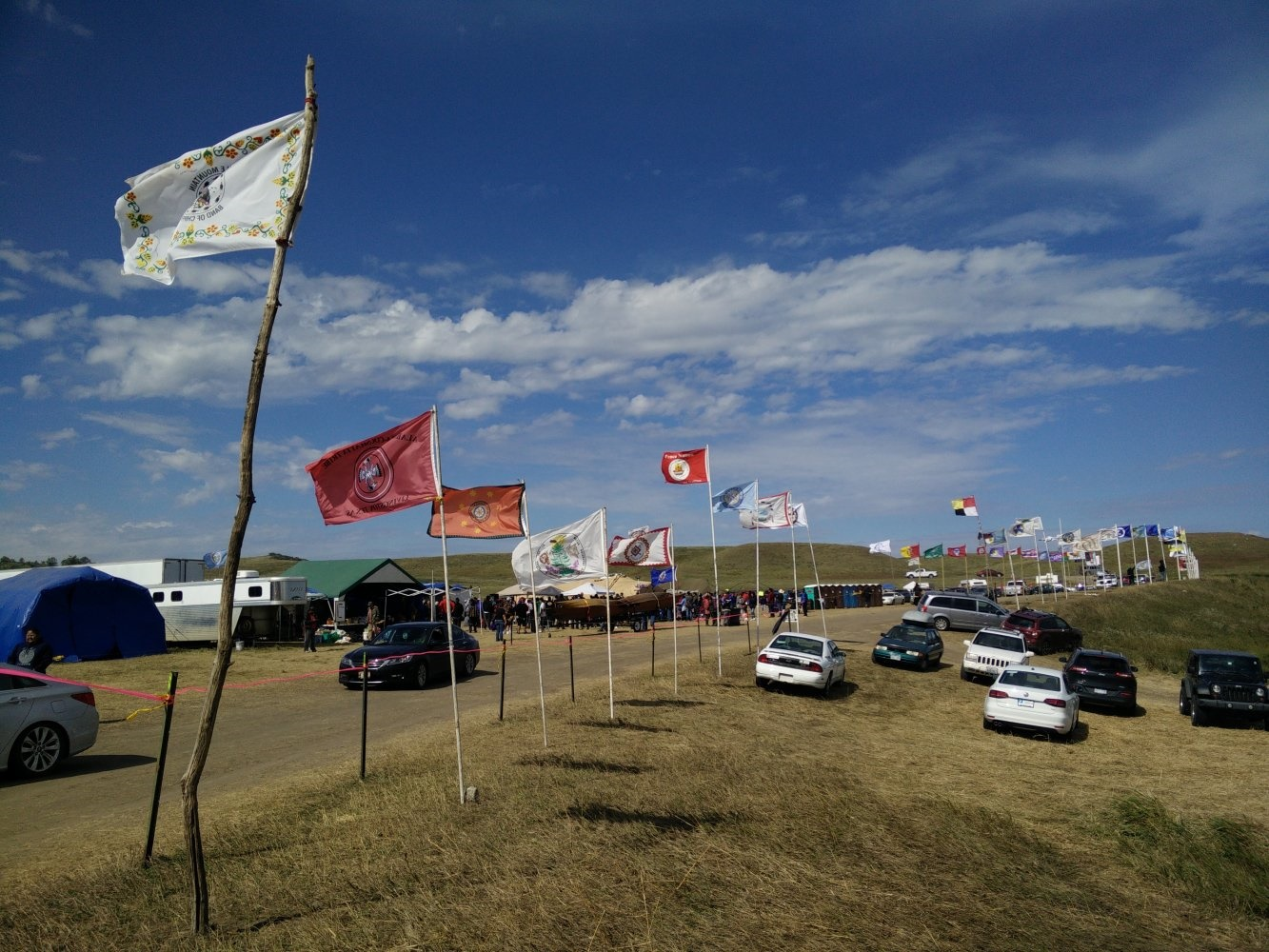 In 2015, thousands gathered in North Dakota to demonstrate against the Dakota Access pipeline in the year's most visible public protest in the United States. Opponents of the Keystone XL pipeline are preparing to renew the fight against a suddenly revived project. Photo courtesy of Creative Commons