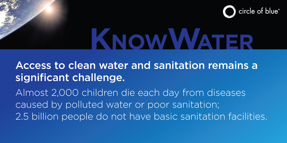 Access to clean water and sanitation remain a challenge %23KnowWater