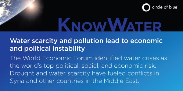 Water scarcity and pollution lead to global instability