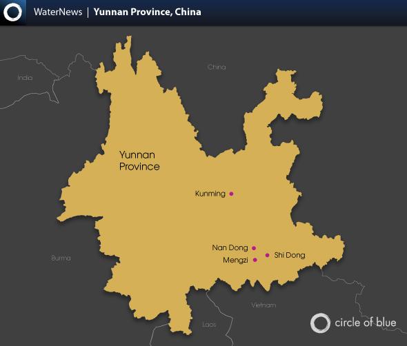 China's Karst Region: Infographics - Circle of Blue on kunming china map, xiang river china map, shaoguan china map, tai'an china map, hokkaido china map, london china map, xuchang china map, guizhou china map, qingdao china map, lincang china map, yan'an china map, karamay china map, temple of heaven china map, hainan china map, aksu china map, uyghur people china map, meizhou china map, xinyang china map, benxi china map, goa china map,
