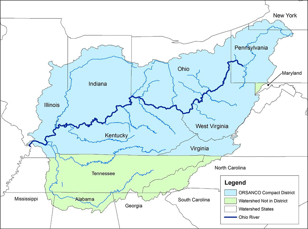 A Map Of The Ohio River Valley Circle Of Blue