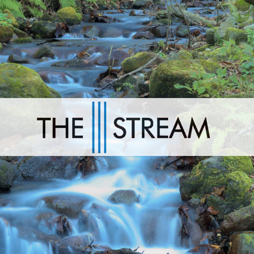 the stream circle of blue