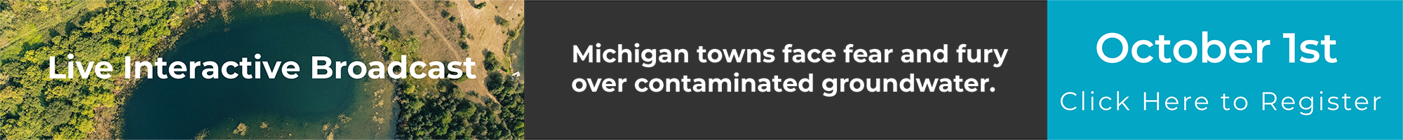 Register for Michigan's Groundwater Emergency - Oct 1, 2018